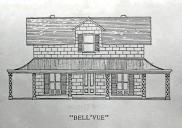 , Architectural drawing of 'Bell'vue' by North Shore Historical Society. Stanton Library
