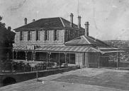 , 'Holbrook House' with tennis courts, probably after its conversion to a boarding house c.1920. Stanton Library
