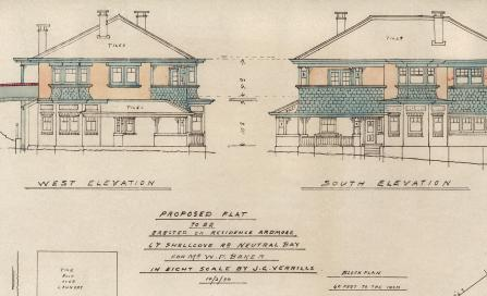 , This plan was drawn up by Jimmy Verrills indicating he had considerable draughting skills. The use of shingles as cladding for the new floor suggests careful attention to the original design. Stanton Library
